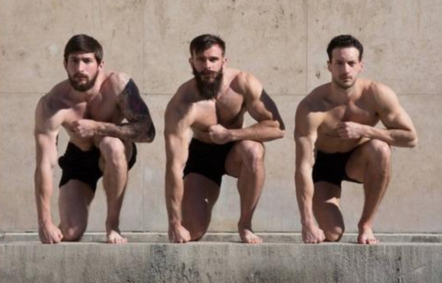 handsome, hunk, hairy men