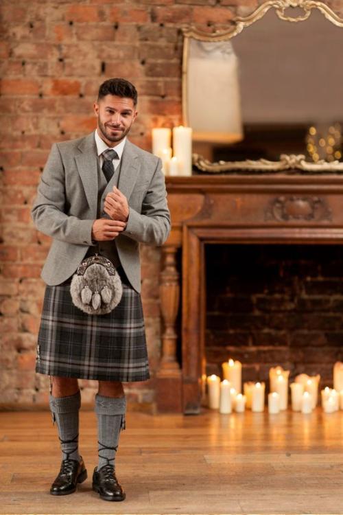 dapper, handsome man, formal kilt attire