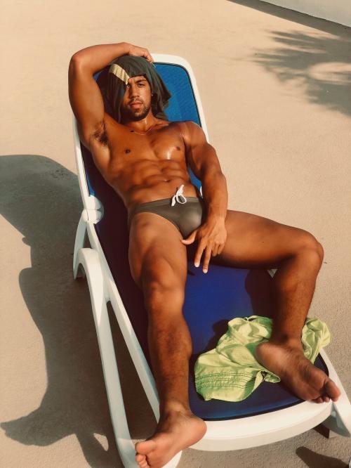 handsome black man, hunk
