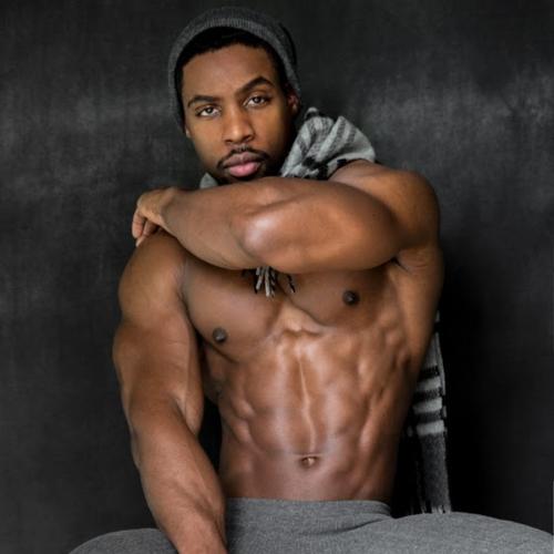 handsome black man, sweaty black man, hunk