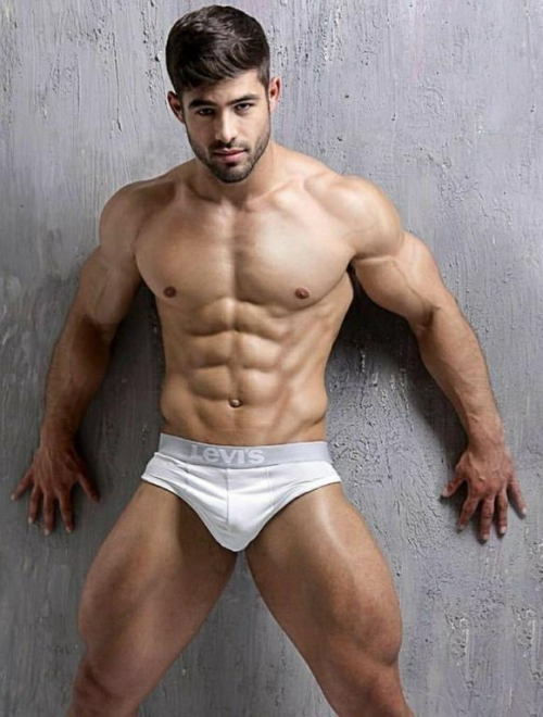 white, handsome, hunk, muscular guy