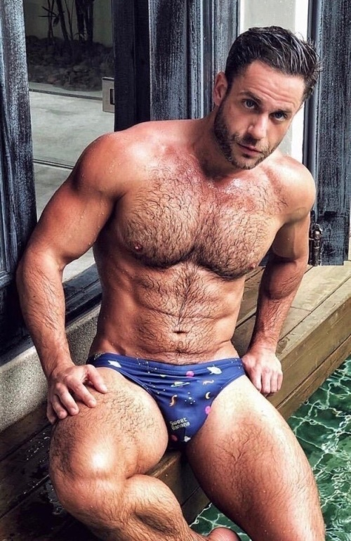 hairy, speedo