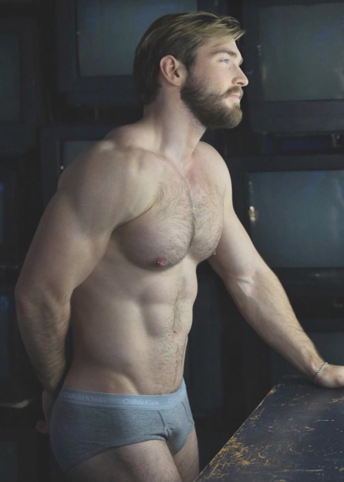 handsome, hairy , hunk