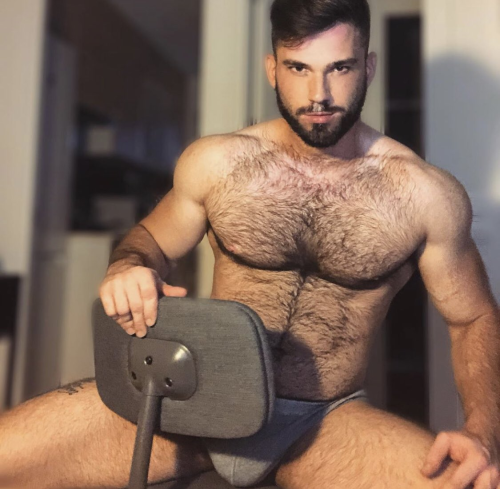 handsome, hairy chest, hunk, shirtless