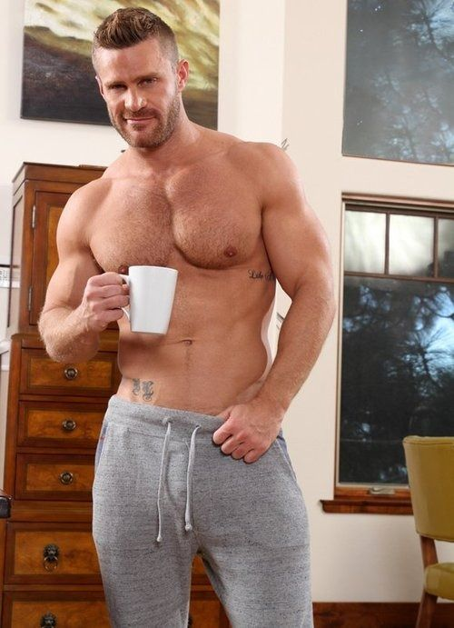handsome guy with his coffee