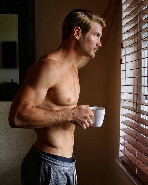 handsome man with his coffee