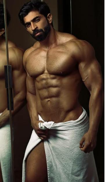 handsome Indian man, handsome asian man