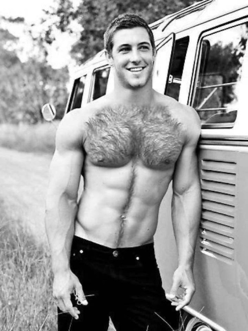 handsome, hairy, hunk