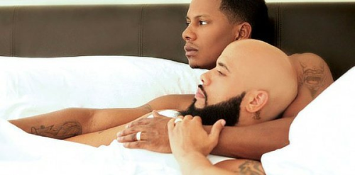 gay black couple in bed together