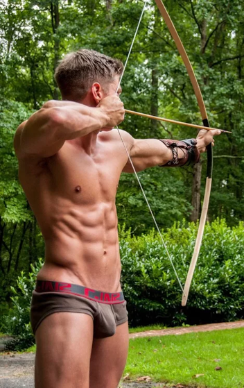 archer, man with bow and arrow, cupid