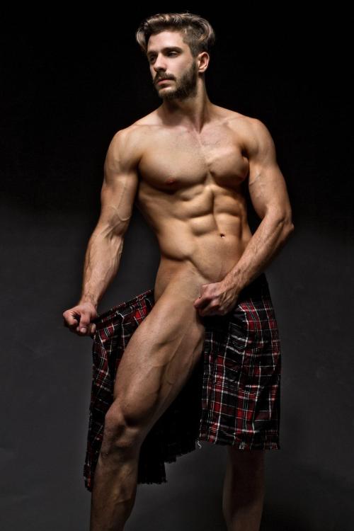 half naked man, handsome hunk