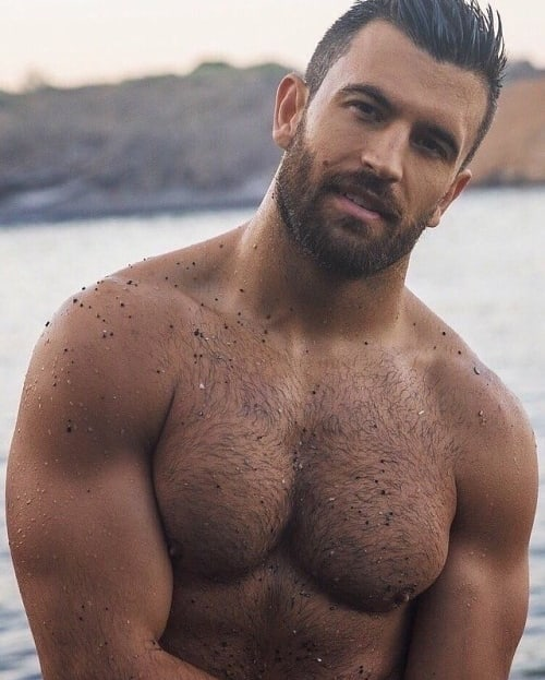 handsome, hairy