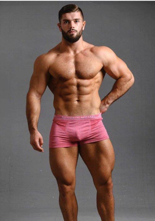 handsome, hunk, pink