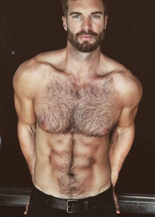 handsome, hairy chest, hunk