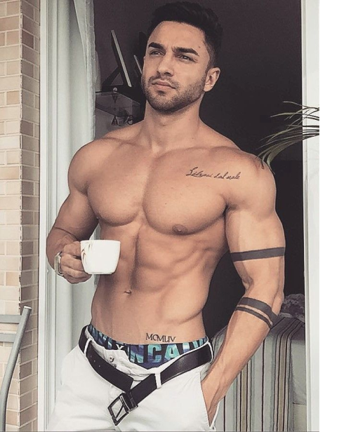 handsome, hunk, shirtless, muscle