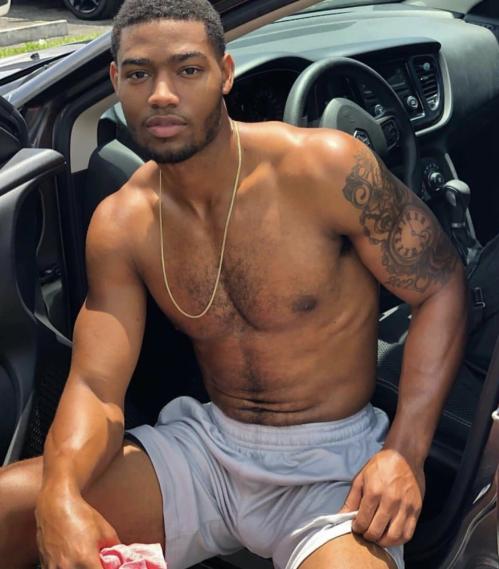 handsome, hunk, handsome black man