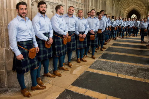 rugby team wearing kilts