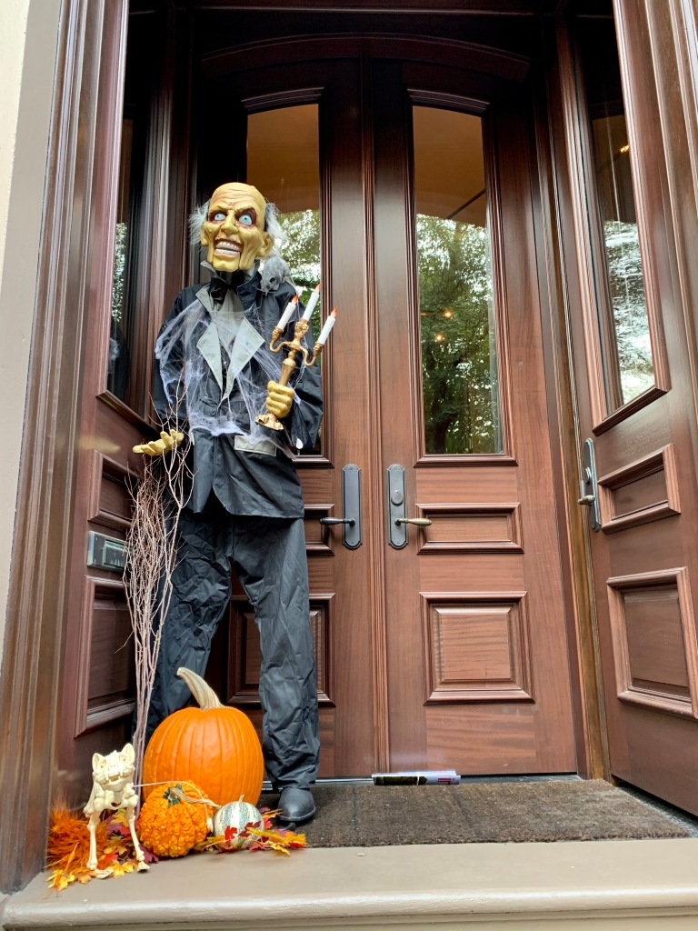 Halloween decorations in Boston's South End