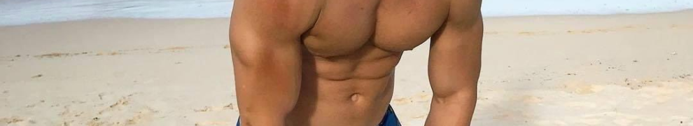 handsome, male model, blond, muscular