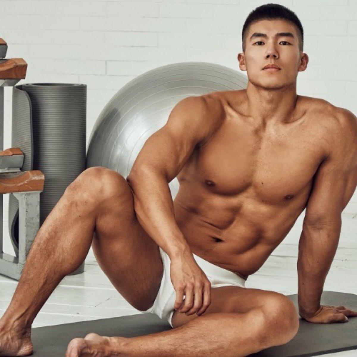 handsome, hunk, asian male model, underwear
